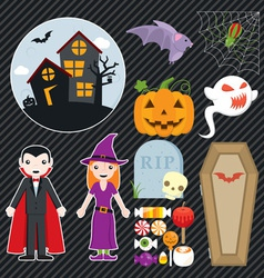 Halloween Set 002 vector image vector image