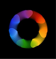 Heart design element or banner for web vector image