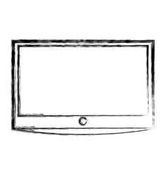 lcd tv isolated icon vector image