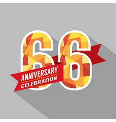 66th Years Anniversary Celebration Design vector image vector image