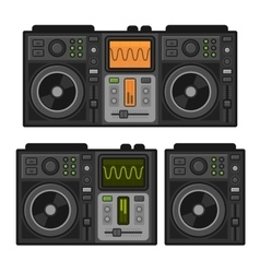 Dj Sound Mixer Set Flat Design Style vector image
