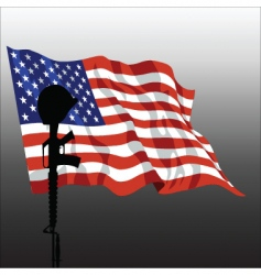 fallen soldier vector image