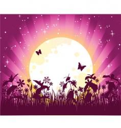 moon pink vector image vector image