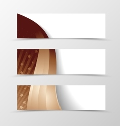 Set of banner wavy design vector image vector image