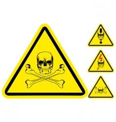 sign on danger vector image vector image