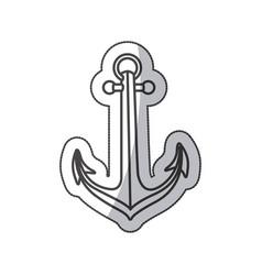 sticker sketch contour anchor icon design vector image vector image