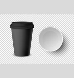 3d realistic black disposable closed vector