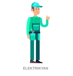 a Man Dressed as an Electrician vector image