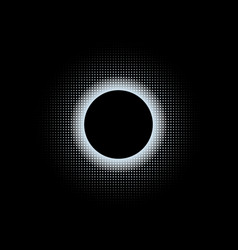abstract background with black circle and halfton vector image