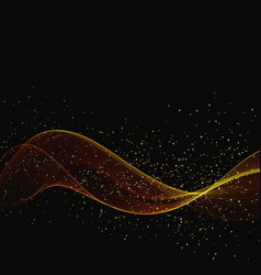 abstract color gold wave design element with vector image