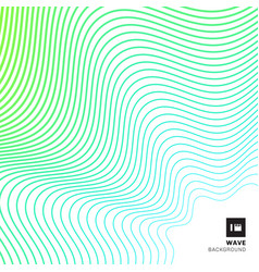 abstract striped green wave curved line pattern vector image