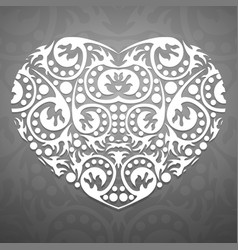 abstract white heart vector image