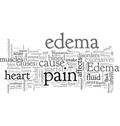 Acute edema and back pain vector