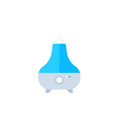 Air humidifier purifier icon flat vector