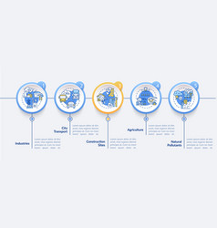 Ambient air pollution infographic template vector