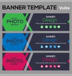 bannertemplate for business webdesign vector image