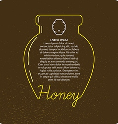 Bee products vector image