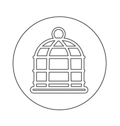 Bird cage icon design vector
