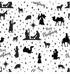 birth christ scene pattern vector image