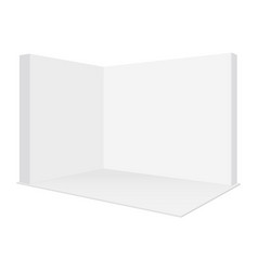 blank pop up trade show booth mockup isolated vector image