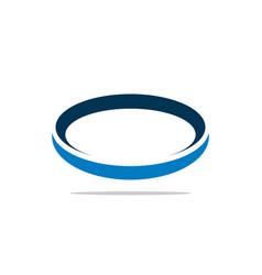 blue ring orbit logo template vector image