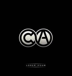 Ca initial letter linked circle capital monogram vector