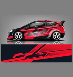 Car decal wrap design graphic abstract str vector