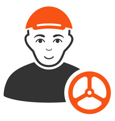 Car driver icon vector