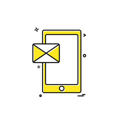 Cellphone mobile phone massage icon design vector