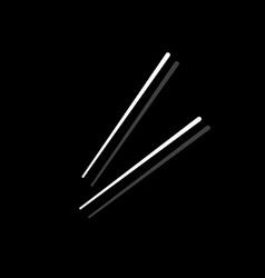 Chopsticks icon flat vector