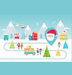 Christmas holidays park street food and winter vector