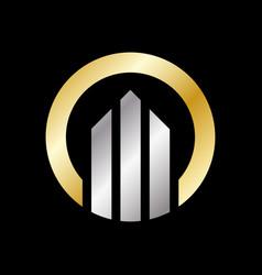 circle logo with arrows business logo design vector image