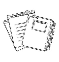 Contour rings notebook tool with loose paper vector
