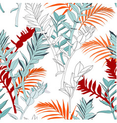 creative universal floral background in tropical vector image