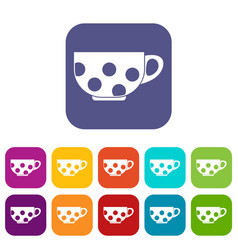 Cup icons set vector
