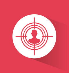 cyber secuirty target protection system vector image