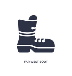 Far west boot icon on white background simple vector