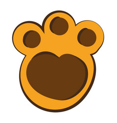 feline paw footprint isolated icon vector image