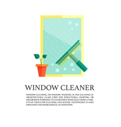 Flat windows cleaner concept vector