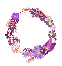 flower ornament circle in minimalist style flat vector image
