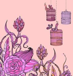 flower tender card vector image