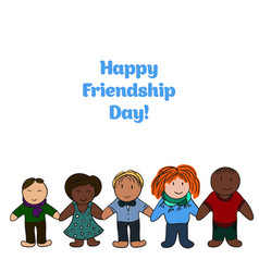 Friendship day picture for your design card cover vector