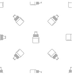 fruit vape liquid pattern seamless vector image