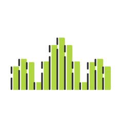 Green dj soundwave color icon audio sound wave vector