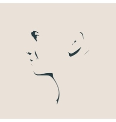 Head silhouette face profile view vector