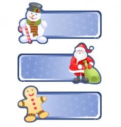 hristmas banners vector image