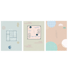 japanese background with geometric pattern vector image