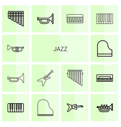 jazz icons vector image
