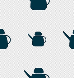Kettle Icon sign Seamless pattern with geometric vector