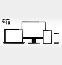 laptop computer monitor display tablet vector image